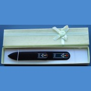 BOHEMIA gift set glass nail files Swarovski 2SW pattern 14-15 Gift sets Swarovski