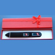 BOHEMIA gift set glass nail files Swarovski pattern 21-heart
