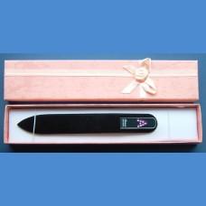 "BOHEMIA Swarovski glass nail file – middle size 140/2mm, letter - ""A"" ALPHABET Swarovski"