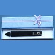 "BOHEMIA Swarovski glass nail file – middle size 140/2mm, letter - ""D"" ALPHABET Swarovski"