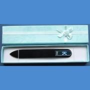 "BOHEMIA Swarovski glass nail file – middle size 140/2mm, letter - ""K"" ALPHABET Swarovski"