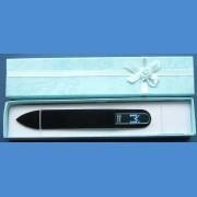 "BOHEMIA Swarovski glass nail file – middle size 140/2mm, letter - ""M"" ALPHABET Swarovski"