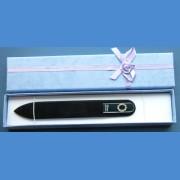 """BOHEMIA Skleněný pilník Swarovski střední 140/2mm písmeno - """"J"""" ABECEDA Swarovski"""