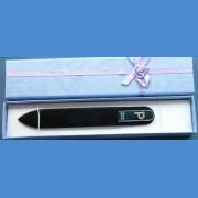 """BOHEMIA Skleněný pilník Swarovski střední 140/2mm písmeno - """"L"""" ABECEDA Swarovski"""