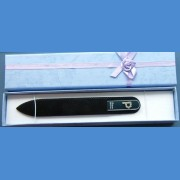 "BOHEMIA Swarovski glass nail file – middle size 140/2mm, letter - ""G"" ALPHABET Swarovski"