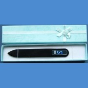 "BOHEMIA Swarovski glass nail file – middle size 140/2mm, letter - ""CH"" ALPHABET Swarovski"