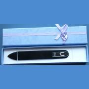 """BOHEMIA Sklenený pilník Swarovski stredný 140/2mm písmeno - """"I"""" ABECEDA Swarovski"""