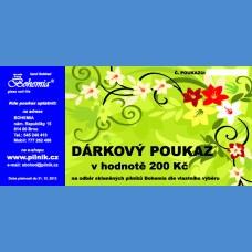 Darčekový poukaz v ceně 8 EUR Darčekové poukazy