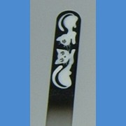 BOHEMIA Exclusive painted glass nail file, middle size 140/2 mm, sample No.3 Painted nail files