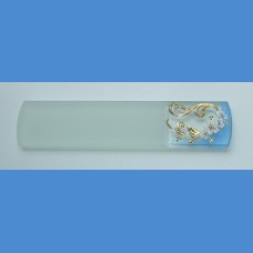 Exclusive decorated glass foot file, sample No.3   Painted nail files