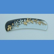 Exclusive decorated Arched glass nail file, sample No.2   Painted nail files