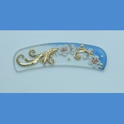 Exclusive decorated glass foot file, sample No.4   Painted nail files