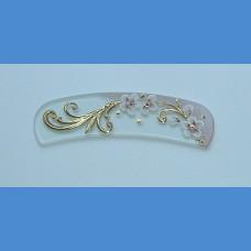 Exkluzivně malovaný Obloukový skleněný pilník na nehty vzor 3 Malované