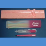 BOHEMIA gift pack - tweezer + foot file 160/8mm and small nail file 90/2mm Foot file