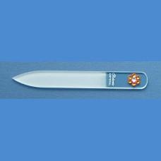 BOHEMIA skleněný pilník Swarovski malý 90/2mm vzor 20 S kameny Swarovski