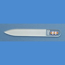 BOHEMIA skleněný pilník Swarovski malý 90/2mm vzor 25 S kameny Swarovski